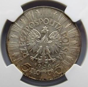 Polska, II RP, 5 złotych 1936, NGC MS61