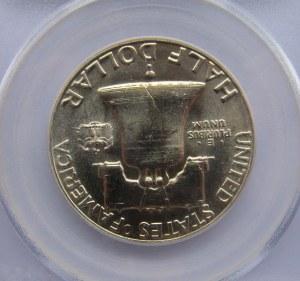 USA, Franklin, 50 centów 1963, PCGS MS65