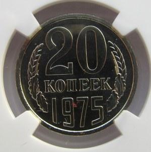 ZSRR - 20 kopiejek 1975, NGC MSPL66