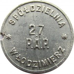 Polska, 27 Pułk Artylerii Polowej, 1 złoty, rzadki!