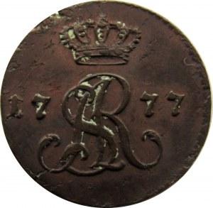 Stanisław A. Poniatowski, 1/2 grosza 1777 E.B. - rzadki