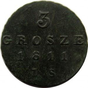 Księstwo Warszawskie, trojak 1811 I.S.