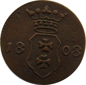 Wolne Miasto Gdańsk, 1 szeląg 1808 M, Gdańsk