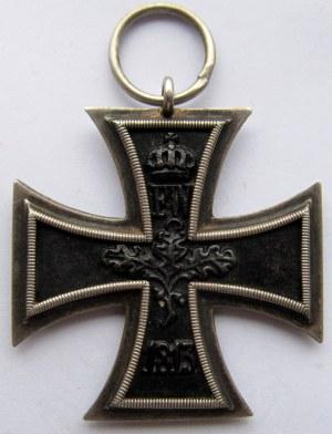 Niemcy 1871-1919, Krzyż Żelazny, wstążka, sygnowany KAG