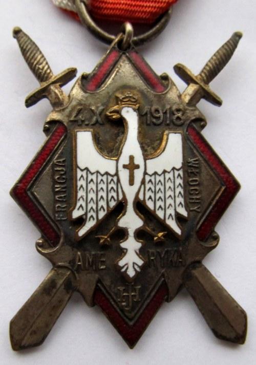 Polska, II RP, odznaka pamiątkowa Armii gen. J. Hallera, tzw. Miecze Hallerowskie