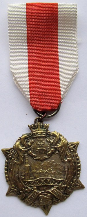 Polska, II RP, Gwiazda Przemyśla 1920, ze wstążką, numerowany 7899