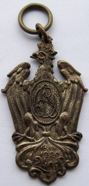 Polska, II RP, odznaka pamiątkowa 240 Pułku Piechoty Armii Ochotniczej - rzadka