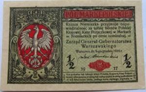 Polska, II RP, 1/2 marki 1917
