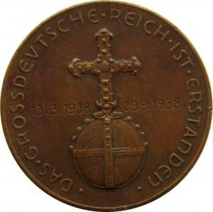 Niemcy, medal, zajęcie Austrii w 1938, Adolf Hitler, brąz