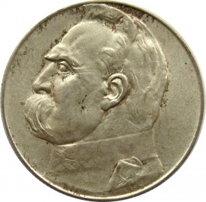 Polska, II RP, Józef Piłsudski, 5 złotych 1936