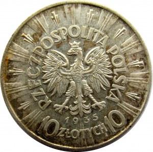 Polska, II RP, Józef Piłsudski, 10 złotych 1935