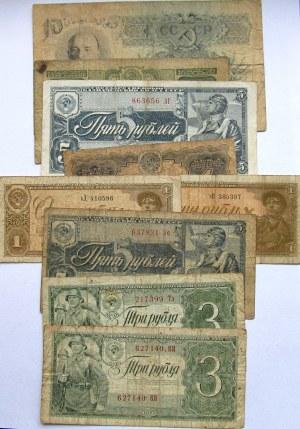 Rosja Radziecka, zestaw banknotów 16 sztuk, edycje 1937 i 1938