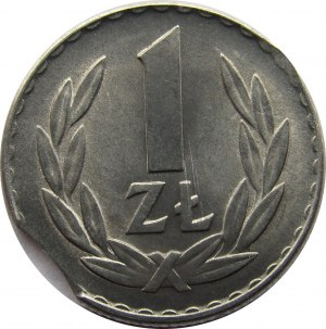 Polska, PRL, 1 złoty 1965 destrukt, UNC