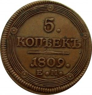 Aleksander I, 5 kopiejek 1809 E.M.