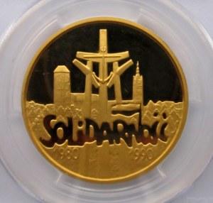 Polska, III RP, 200000 złotych 1990, 10 lat Solidarności, średnica 32 mm