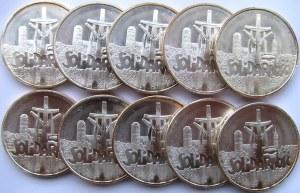 Polska, III RP, 100000 złotych Solidarność - pakiet 10 sztuk, UNC