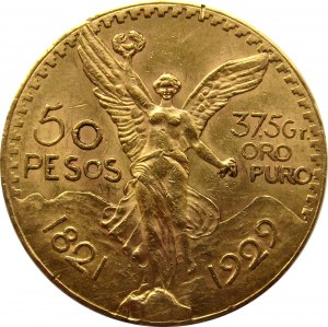 Meksyk, 50 pesos 1929, ładne