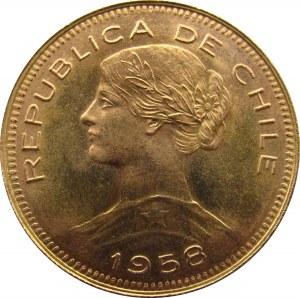 Chile, 100 pesos 1958, UNC