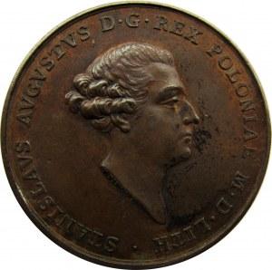 Polska, Stanisław A. Poniatowski, medal koronacyjny 1764, brąz, piękny!