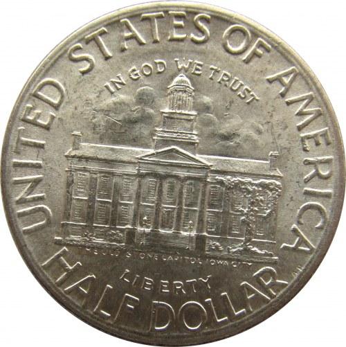 USA, 50 centów 1946, Iowa Statehood Centennial, UNC