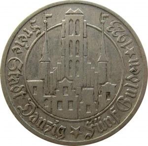 Wolne Miasto Gdańsk, 5 guldenów 1923, Kościół Mariacki