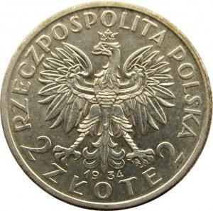 Polska, II RP, 2 złote 1934, Kobieta