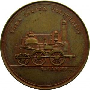Polska, Mikołaj I, medal otwarcie kolei Warszawsko-wiedeńskiej w 1845 roku, brąz