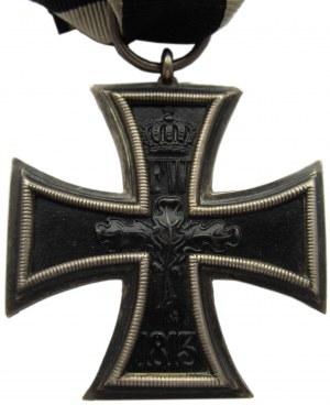 Niemcy 1871-1919, Krzyż Żelazny, wstążka, sygnowany KO