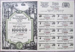 Akcja Towarzystwa Przemysłu Węglowego w Polsce Sp. Akc. 100000 marek polskich