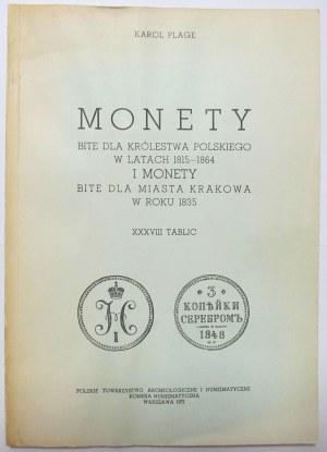 Karol Plage, Monety bite dla Królestwa Polskiego w latach 1815-1864, reprint
