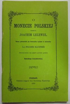 Joachim Lelewel, O monecie polskiej 1862, reprint
