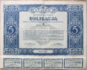 RP, Obligacja III serii premjowej pożyczki dolarowej na 5 dolarów USA