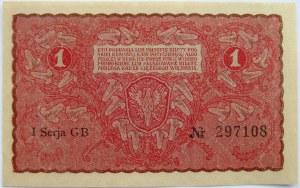 Polska, II RP, 1 marka 1919, UNC