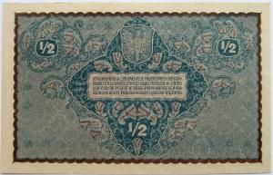 Polska, II RP, 1/2 marki 1920, UNC