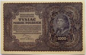 Polska, II RP, 1000 marek 1919, I seria CM, UNC-