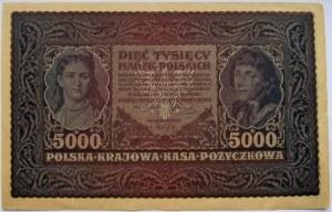 Polska, II RP, 5000 marek 1919, UNC-