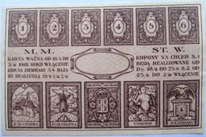 Polska, II RP, Warszawa, karta żywnościowa 1918