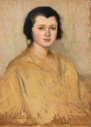 Alfons Karpiński, Portret młodej kobiety, 1923