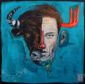 Wojciech Brewka, Bull (z cyklu We are all animals), 2018