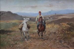 Tadeusz Ajdukiewicz (1852-1916), Jeździec z luzakiem (1911)
