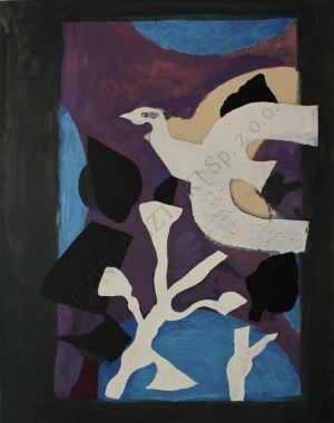 Georges Braque (1882-1963), Ptak i lotos (1963)