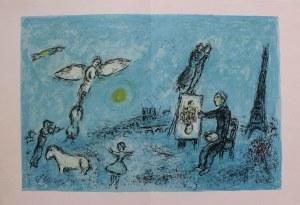 "Marc Chagall (1887-1985), Malarz i jego sobowtór(""Derriere le Mirroir"" no 246, 1981, Mourlot #992)"