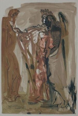 """Salvador Dali (1904-1989), Ilustracja do """"Boskiej Komedii"""" Dantego Alighieri - Czyściec, Pieśń 11"""