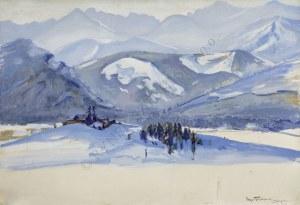 Stefan Filipkiewicz (1879-1944), Pejzaż zimowy z Zakopanego