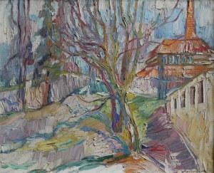 Wszechwład Horbaczewski(ur.1914-?), Pejzaż miejski (1979)