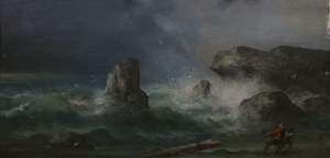 Theodor Hermann Köppen (1828-1903), Rozbitkowie na brzegu morza (1896)