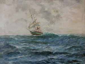 George Majewicz (1897-1965), Szkuner na morzu