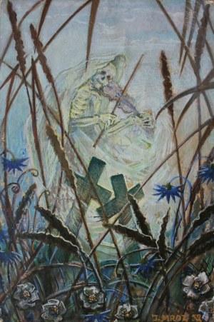 Józef Mróz (1914-1990), Śmierć grająca na skrzypcach (1959)