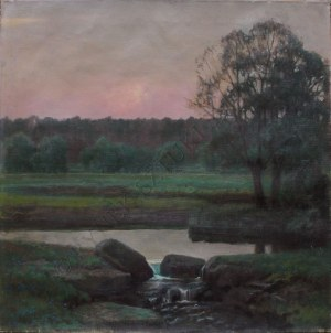 Stefan Popowski (1870-1937), Zachód słońca(1927?)