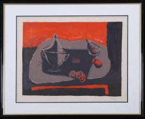 Henryk Hayden (1883–1970), Martwa natura z wazą i owocami, 1968